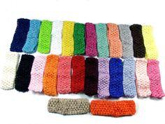 6X Headbands Hair bands Baby Girl Boy New Crochet Stretch Tutu 1.5 inch