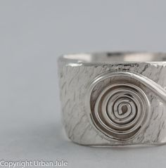 Sterling Silver Ring Wide Band Unisex Ring by UrbanJule on Etsy, $75.00