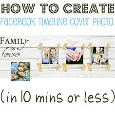 How to create a Facebook timeline cover photo template. Via Home Stories A to Z.