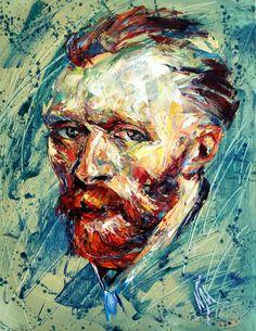 Vincent Van Gogh by Natasha Mylius Impressionism, Contemporary Impressionism, Vincent Van Gogh, Fine Art, Canvas, Painting, Art, Portrait, Prints