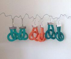 Items similar to Earrings Nautical Twist Fishing Net Rope Beach Seaside on Etsy Fishnet, Seaside, Nautical, Crochet Earrings, My Etsy Shop, Turquoise, Drop Earrings, Beach, Crafts