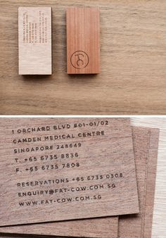 Fat Cow Food Business Cards