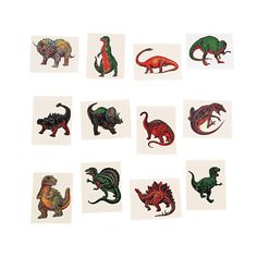 Dinosaur Tattoos - OrientalTrading.com  Tatoos instead of mini dino because there's no choking hazard