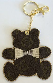Louis Vuitton Handbag Charm Key Chain Made From Authentic Lv Bag Charms Chains Handmade Pinterest Handbags And