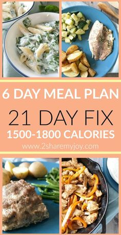 1500-1800 Calorie Meal Plan: The complete 21 day fix eating plan between 1500 and 1800 calories for 2 people and 6 days. This weight loss meal plan is designed for a simple meal prep and budget friendly grocery shopping. 21 DAY FIX MEAL PLAN without shakeology but with shopping list