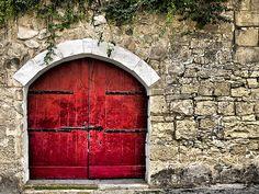 Medieval Red Door