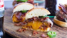 Juicy Lucy burgers made even better with Mexican seasoning, chorizo and bacon!