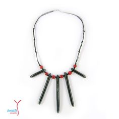 This beautiful tribal red and black necklace will make you look very stylish and fashionable.