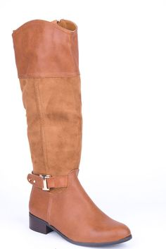 Riding Boots with Buckle Detail