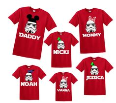 Stormtrooper Family Shirts Star Wars Disney by ShineDesignsTees
