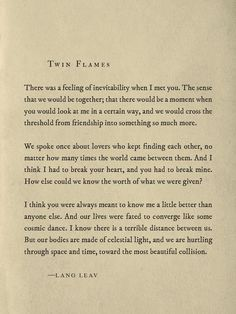 Twin Flames - Lang Leav