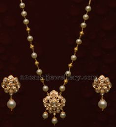 Simple Locket and Drops Earrings | Jewellery Designs