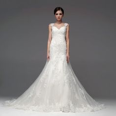 Straps Trumpet/Mermaid Net wedding dress