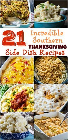 21 of the best southern Thanksgiving side dish recipes thanksgiving sidedishrecipes casseroles 235664992985015583 Southern Thanksgiving Recipes, Thanksgiving Appetizers, Southern Recipes, Holiday Recipes, Thanksgiving Foods Sides, Thanksgiving Casserole, Thanksgiving Turkey, Christmas Desserts, Holiday Ideas