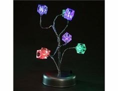 7-Color Changing 9-LED Block Design Decorative Tree Light (Silver) by QLPD. $33.84. Unique tree shaped decorative light. Gives out 7-color changing light and looks colorful and beautiful. Romantic and nice decoration at night. For indoor use only (or covered outdoor use). Suitable for homes, parties, clubs, bars, etc.