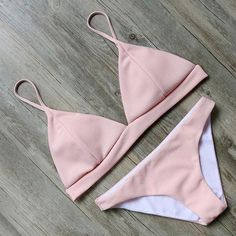 Peachy Triangle Two-Piece  #love #dresses #DreamClosetCouture #Fashion #rompers