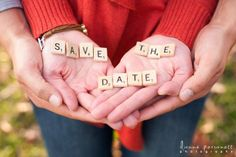 Scrabble Letter Save The Date Photo Idea. See more here: 27 Cute Save the Date Photo Ideas   Confetti Daydreams ♥  ♥  ♥ LIKE US ON FB: www.facebook.com/confettidaydreams  ♥  ♥  ♥ #Wedding #SaveTheDate #PhotoIdeas