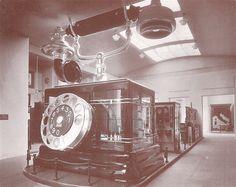Volta's exhibition in exhibition in Villa Olmo 1927, telephone stand. Gigant phone