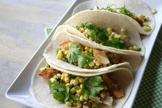 Southern Souffle: Buttermilk Fried Chicken Tacos with Sweet Corn Ceviche