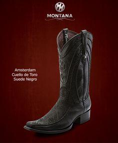 #Montana #Botas #Amsterdam #CuellodeToro #Modelo AM104CT #Color Suede Negro #MontanaisBack