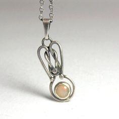 Wire Nouveau: Angelique - Sterling Silver Pendant with Ethiopian Opal