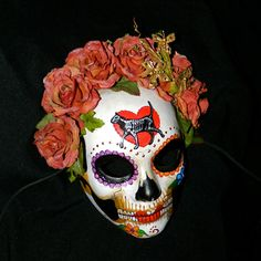 Updated Cat Skeleton Mask, Day of the Dead $58.  But you can get a 15% discount if you say you saw it on Pinterest!