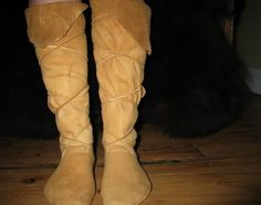 Moccasins 101: How to make one-piece moccasins - these just look plain fun to make and wear..