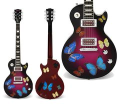 Damien Hirst Custom Gibson Les Paul Goddess Electric Guitar to be auctioned with proceeds benefiting charity.