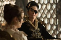 "Lena Headey dons an eye patch while unleashing bloodshed in ""Pride and Prejudice and Zombies."""