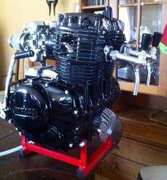 Motorcycle engine beer tap!