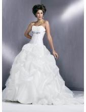 Exquisite Baile vestido tomara que caia Embroider Tule Sem cauda casamento Vestidos