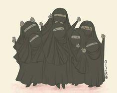 Hijab Drawing, Hijab Cartoon, Cute Emoji Wallpaper, Islamic Girl, Niqab, Editor, Besties, Motorcycle Jacket, Panda