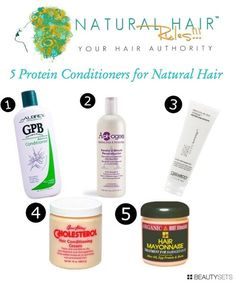 5 Protein Conditioners For Natural Hair - http://www.beautysets.com/sets/28064 - Hair