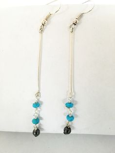 A personal favourite from my Etsy shop https://www.etsy.com/uk/listing/399727027/turquoise-and-hematite-earrings