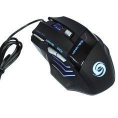 Professionelle 5500 DPI Gaming Mouse 7 Tasten LED Optical USB Verdrahtete Mäuse für Pro Gamer Hohe Qualität