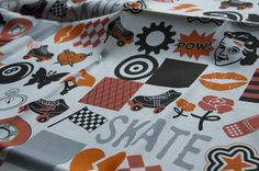 Roller Derby by pennycandy by Spoonflower Fabrics, via Flickr