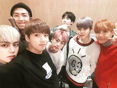 BTS at SBS Power FM Cultwo Show Selfie ❤ (cultwoshow IG Update) #BTS #방탄소년단