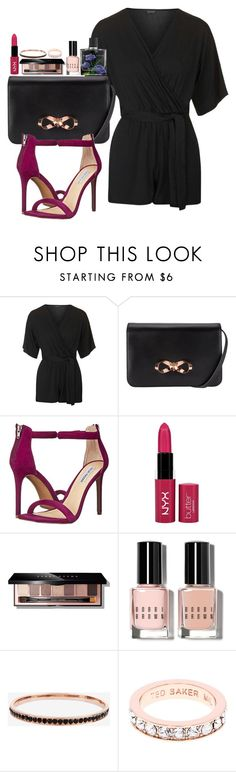 """""""Untitled #2352"""" by abigailtaylor ❤ liked on Polyvore featuring Topshop, Ted Baker, Steve Madden, NYX, Bobbi Brown Cosmetics, Nest, women's clothing, women, female and woman"""