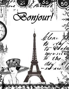 **FREE ViNTaGE DiGiTaL STaMPS**: FREE Digital Stamp - Eiffel Tower Collage