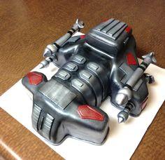 Starcraft battlecruiser cake by cake-whimsy.com