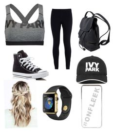 """""""Ivy park"""" by iamtaylor6 ❤ liked on Polyvore featuring beauty, Ivy Park, NIKE, Converse and River Island"""