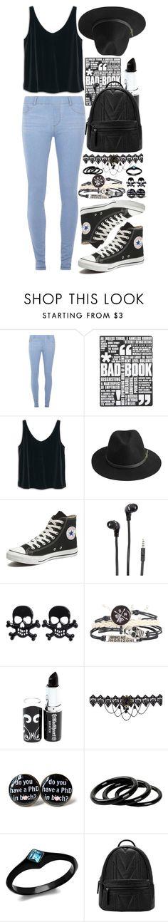 """Feeling Black"" by lalalasprinkles ❤ liked on Polyvore featuring Dorothy Perkins, Nuuna, MANGO, BeckSöndergaard, Converse, Merkury Innovations, Furla, women's clothing, women and female"