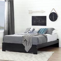 South Shore Furniture 10261 39 Reevo Bed Set Twin Black Onyx