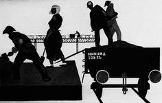 "Alexander Deineka - In the Donbas (Illustration for ""U Stanka""), 1924"