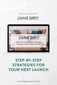"You're so ready for your offer to be out in the world, but the idea of getting it launched is too much. Let's get your entire launch mapped out + planned together! Here's what we'll be teaching during this free workshop: A walkthrough of our entire ""Launch Simply"" planning doc and how you can get it for free, A step-by-step screen share on how to customize marketing material for your business launch, Identify the one piece you need to set up in order to launch your offer and make money. Join…"