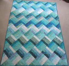 (7) Name: 'Quilting : Ocean Rail Fence Waves
