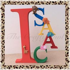 Name Letters, 3 Letter, Birthday Candles, Bookends, Hand Painted, Colours, Lettering, Painting, Facebook