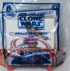 McDonald's 2010 Star Wars The Clone Wars Asajj Ventress Skateboard Toy #9