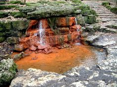 """Blood Spring"" at the ancient Necropolis in Yellow Springs, Ohio at Glen Helen Park"