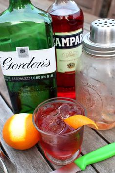 The Crafty Larder: Negroni & Other Halloween Cocktails